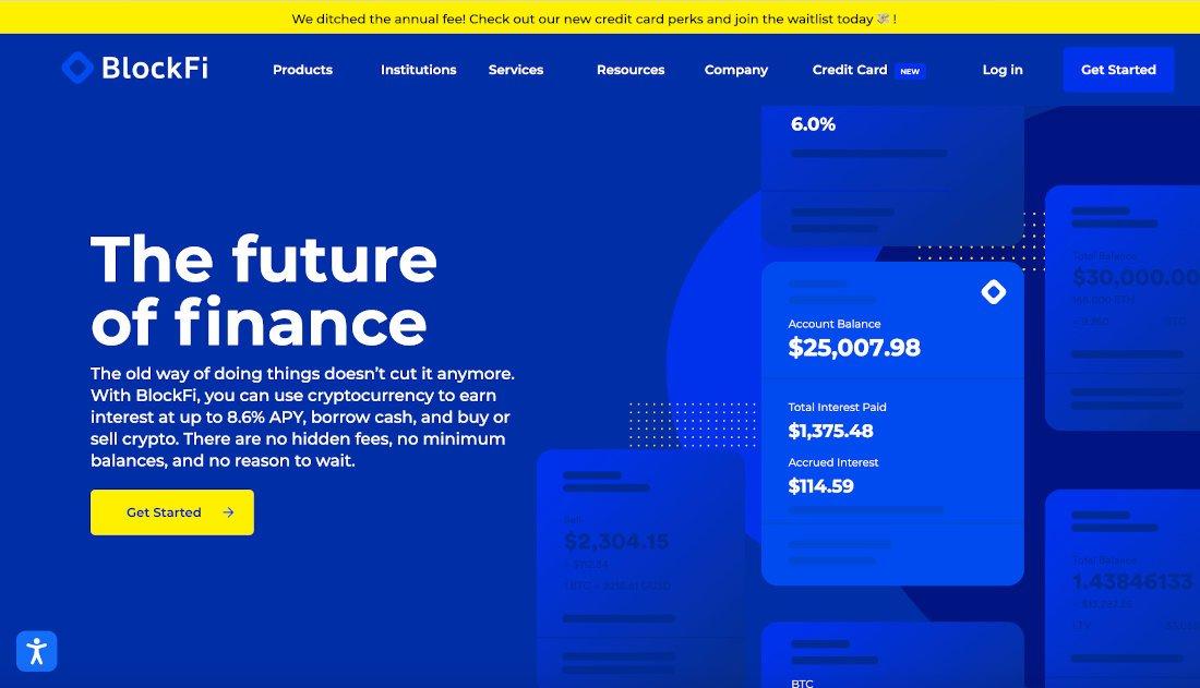 BlockFi é uma plataforma de criptomoeda que faz empréstimo crypto