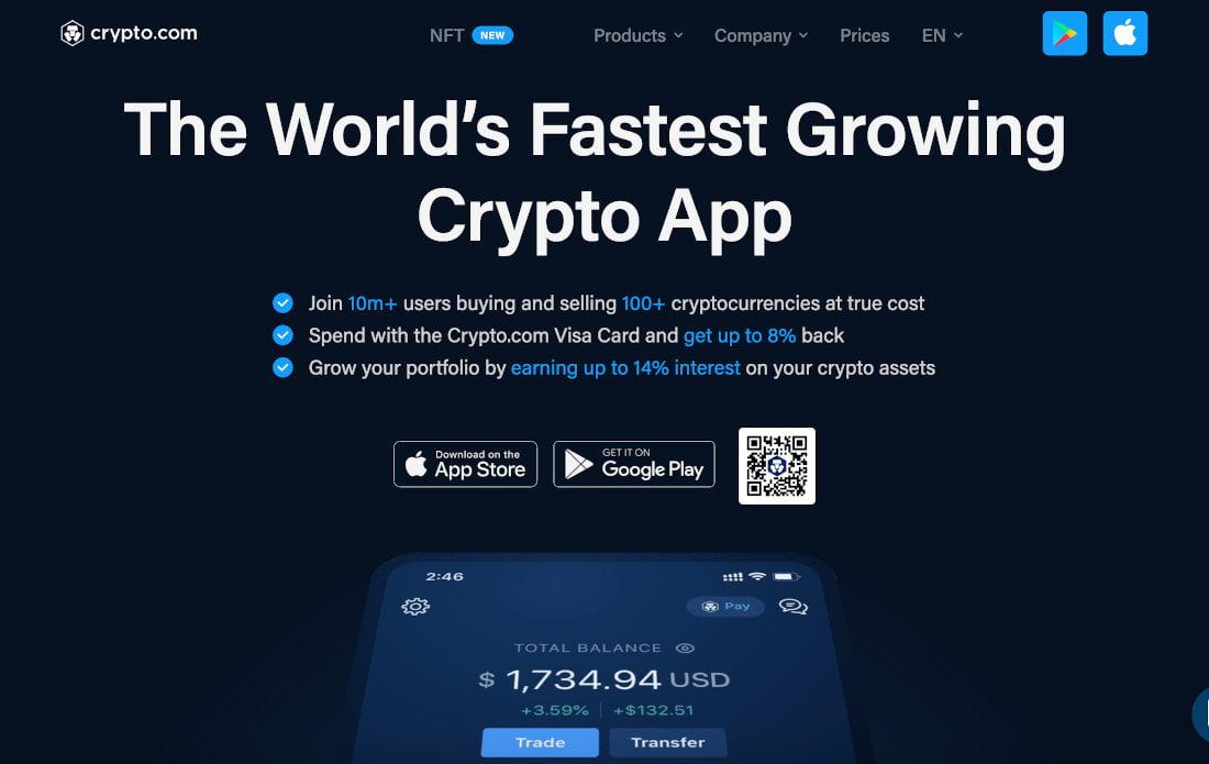 A Crypto.com é uma plataforma de venda, troca e empréstimo de criptomoedas