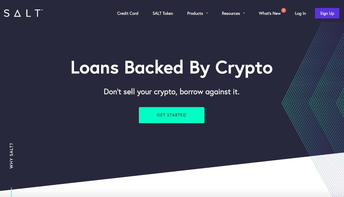 Salt Lending oferece empréstimos individuais ou empresariais de criptomoedas