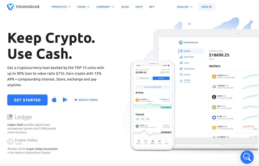 YouHodler é uma plataforma de criptomoeda