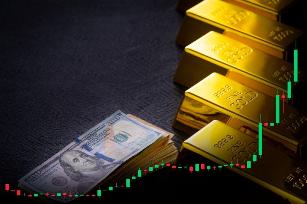 Mudanças históricas nos preços do ouro